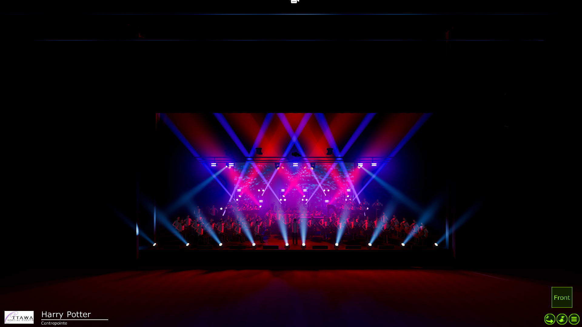 three dimensional (3D) show, concert and event rendering designers