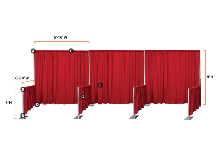 Ottawa Pipe And Drape For Trade Shows Rentals