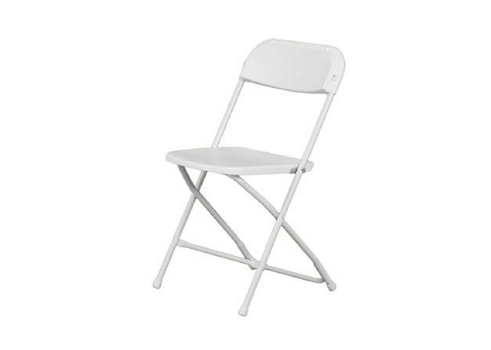 white folding chair rentals Ottawa